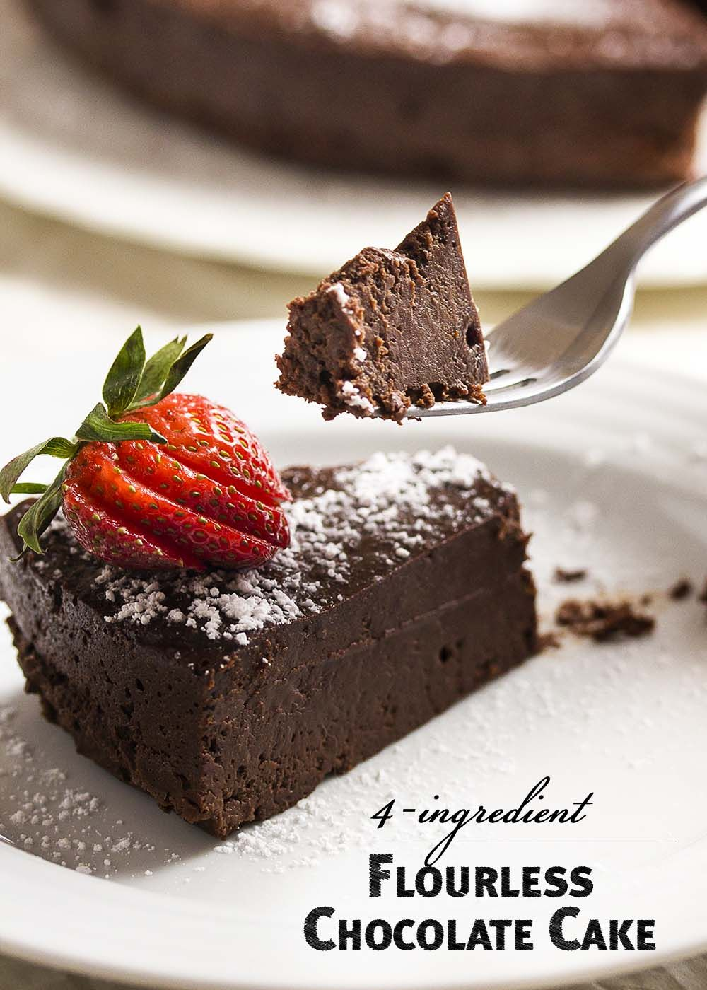 Easy Flourless Chocolate Cake - Just a Little Bit of Bacon