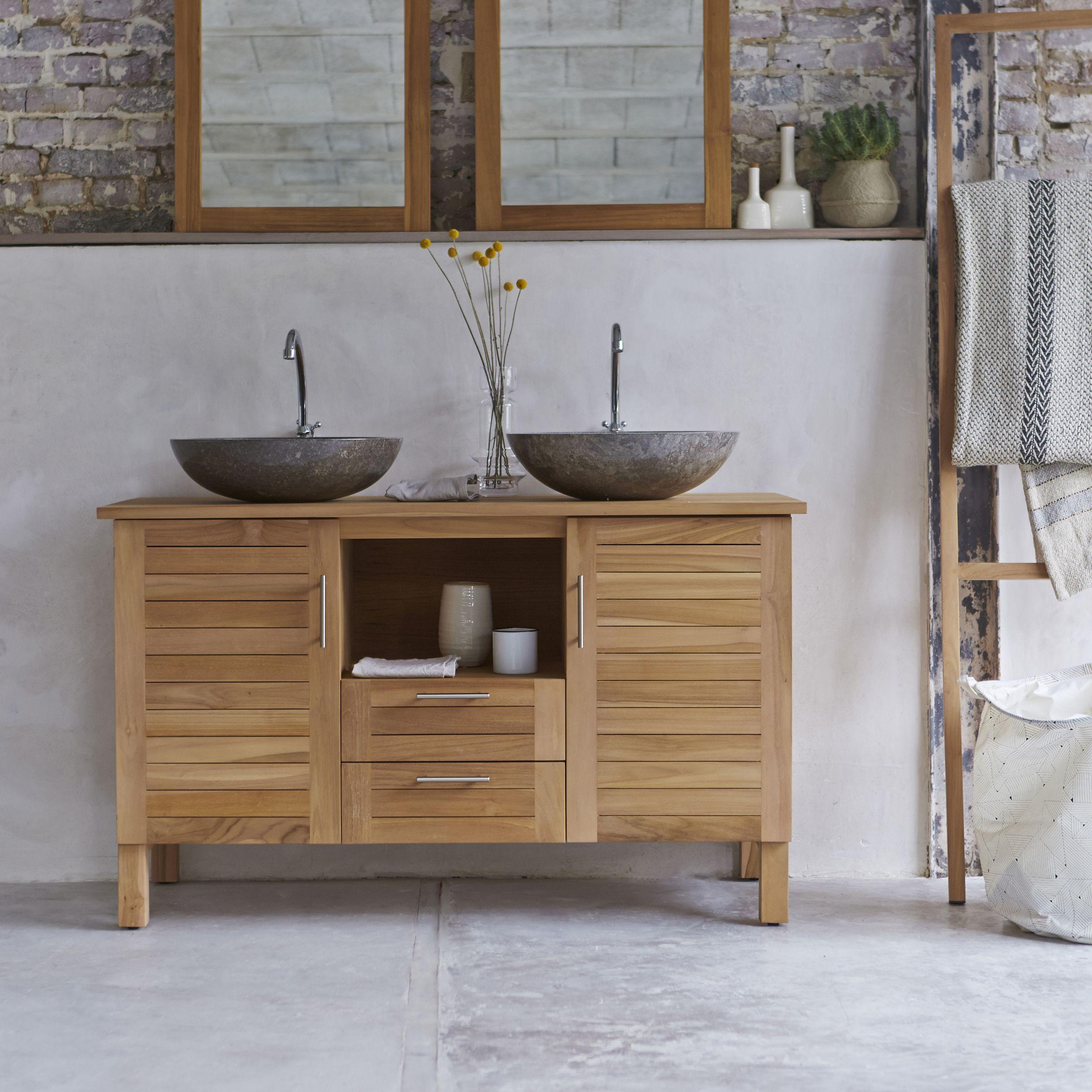 Colonne Salle De Bain Tikamoon ~ meuble salle de bain en teck 125 soho pinterest salle de bain en