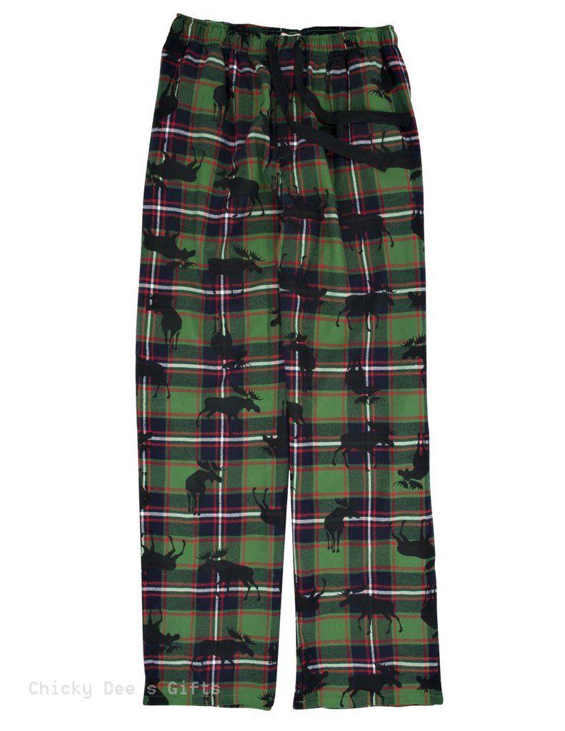 Hatley Men s Flannel Pajama Pants PLAID MOOSE PJ sleep  36fe4103d