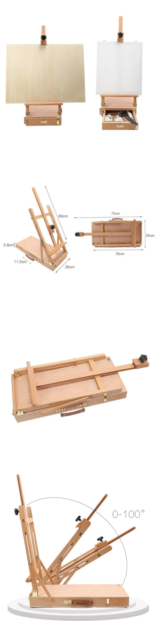 Easels Stand Painting Drawing Wood Portable Easel Solabela