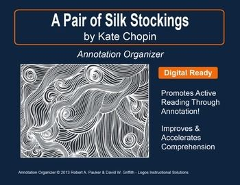 """UPDATED WITH NEW ADDED FEATURES ⚡  """"A Pair of Silk Stockings"""" by Kate Chopin is part of our Short Story Annotation Series designed to improve annotation skills, bolster reading comprehension, and cultivate literary appreciation."""