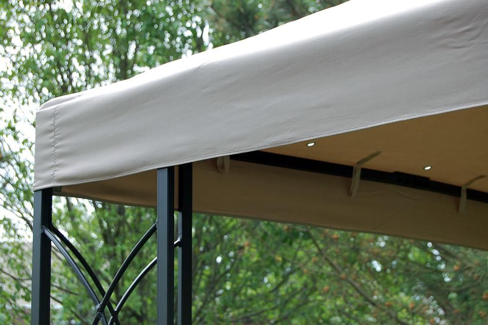 Gazebo Canopy Patio Shade Steel Frame & 8x8 FT Steel Frame Gazebo with High-Grade 300D Canopy | Patio Shade ...