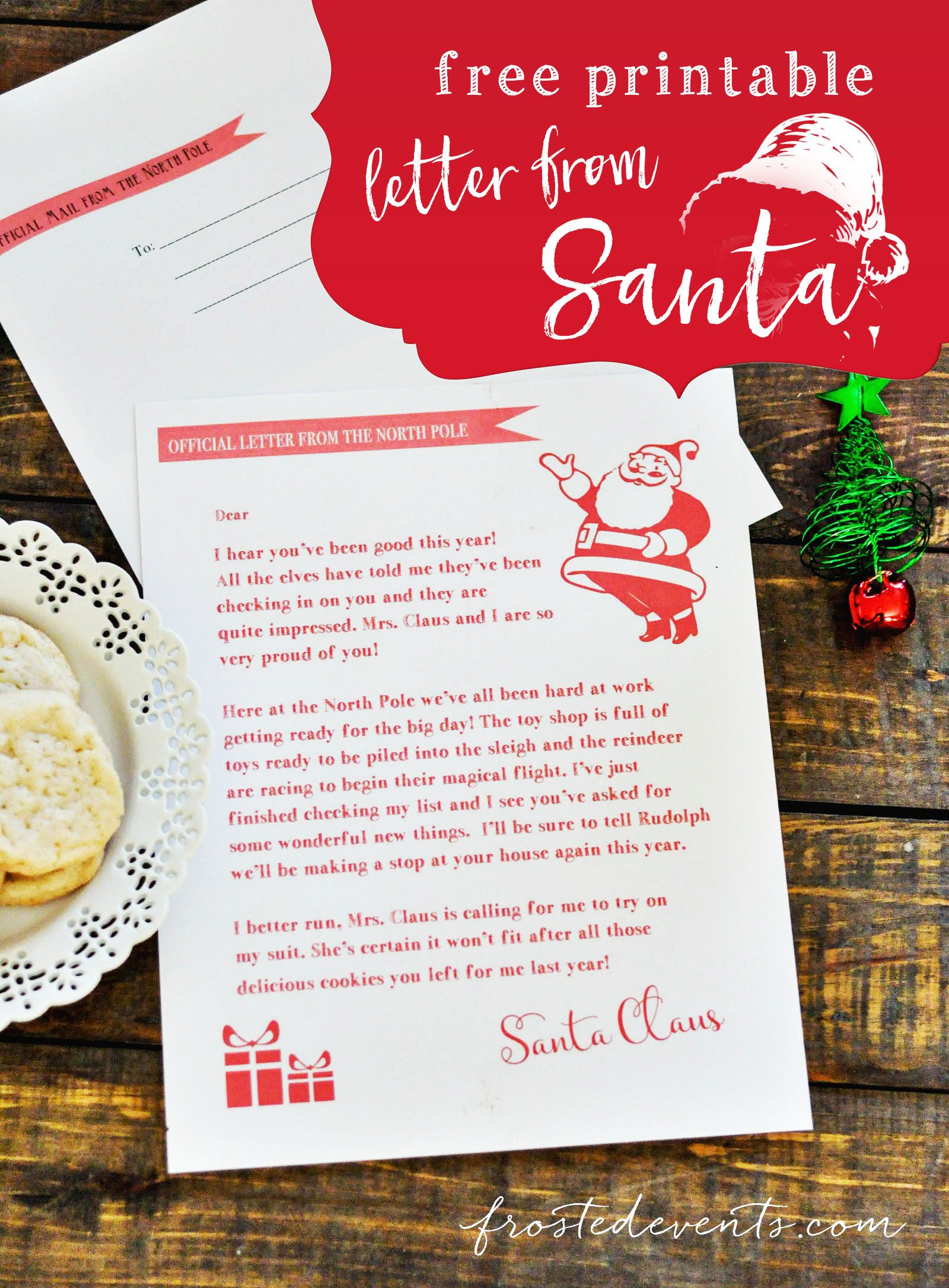 Grab this Free Printable Letter from Santa Santa letter