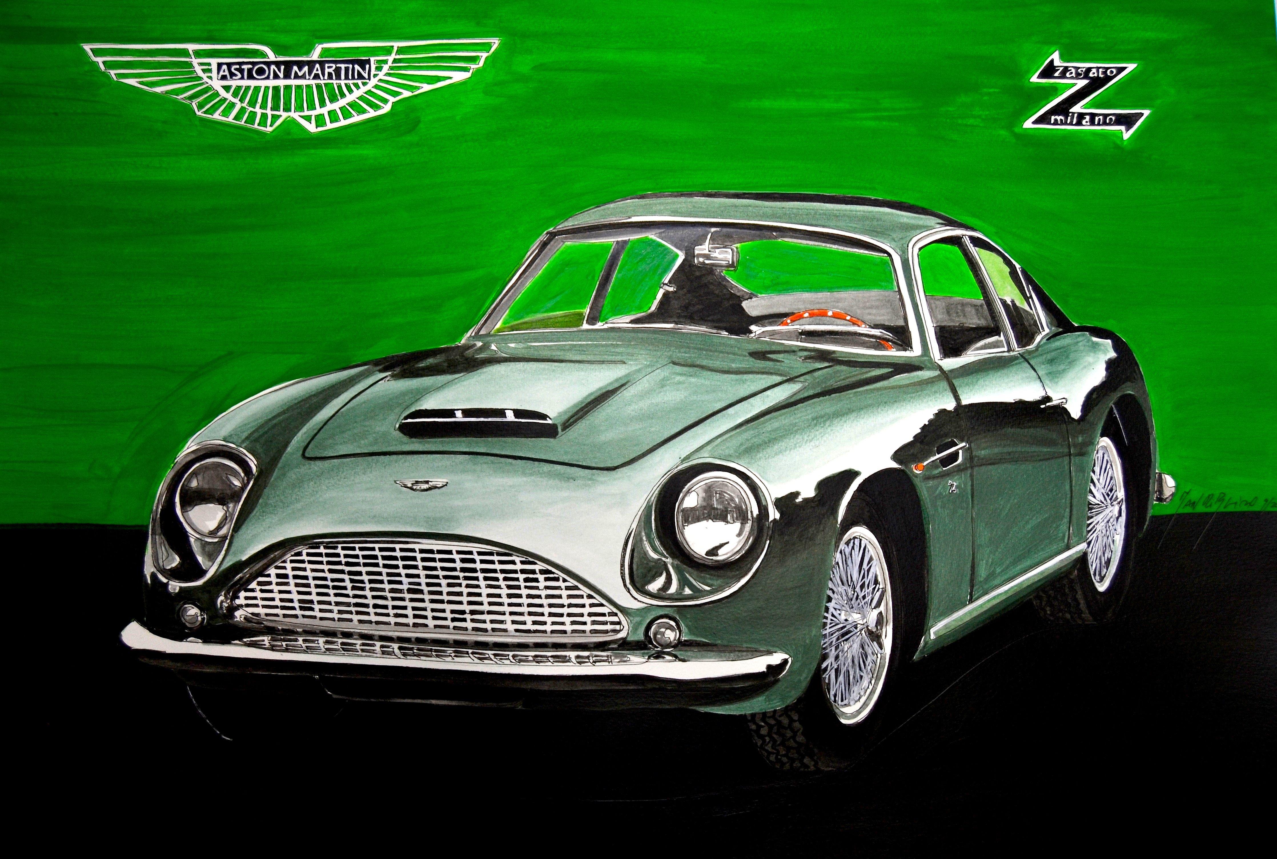 Aston Martin Zagato Man Ribeiro artwork auto candy