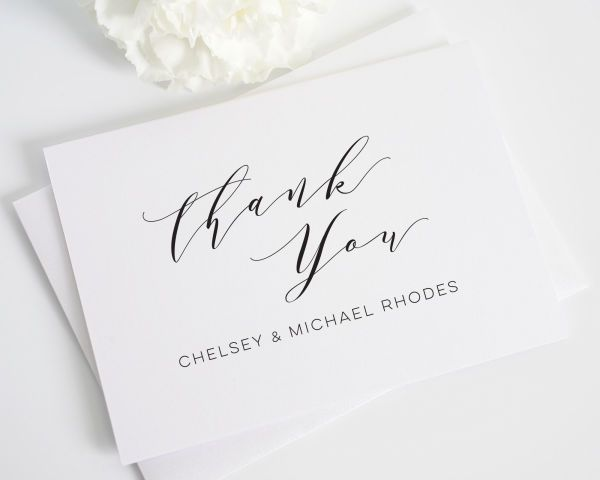 What to Put In Wedding Thank You Cards