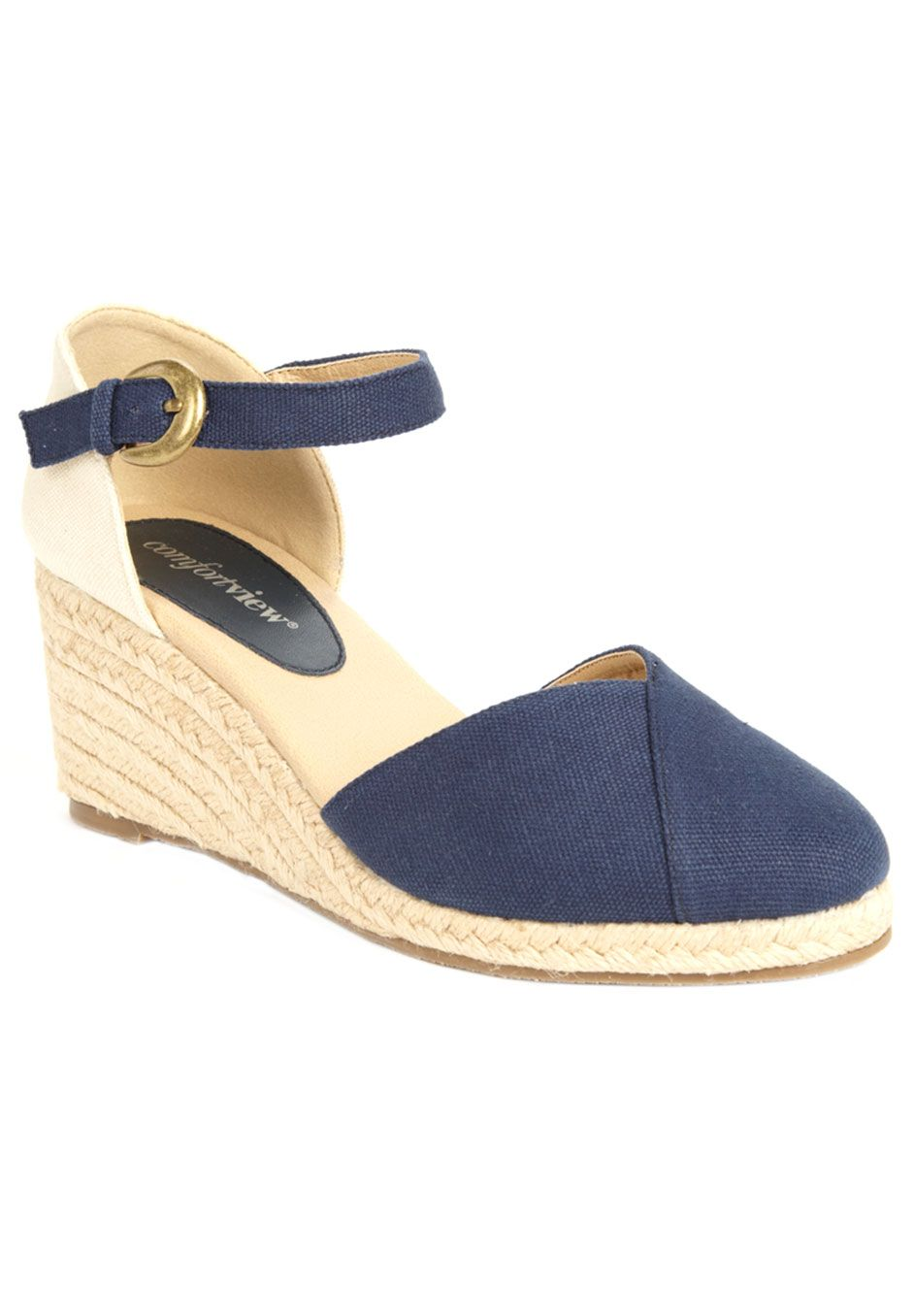 3e08003edbd930 Plus Size Bari Mary Jane Espadrille by Comfortview®
