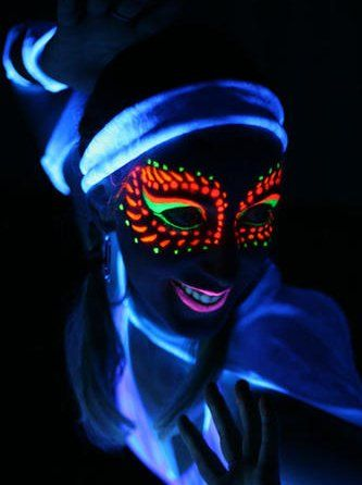 Pin By Sarah Jackson On Mary S Sweet 16 Neon Face Paint Glow Face Paint Face Paint Set