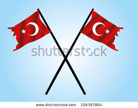 turkish flag stock vector 106397864 shutterstock