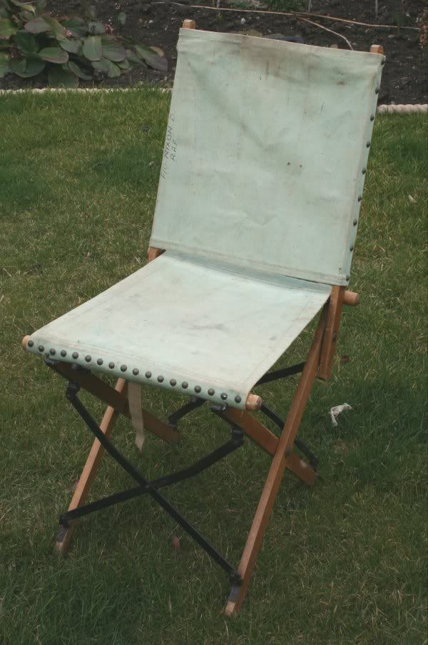 Style Of RAF WW2 ficer FOLDING CANVAS CHAIR militarytrader Trending - Beautiful canvas chair Trending