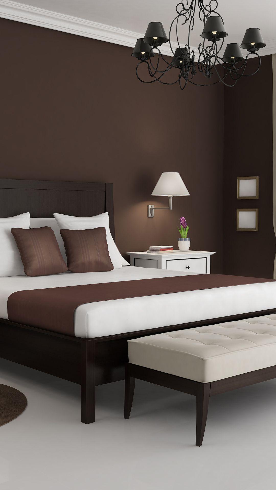 1080x1920 Brown Interior Bedroom Design White 3d Style Furniturearrangementideas Furnitureapartm Bedroom Decor Design Interior Paint Living Room Paint