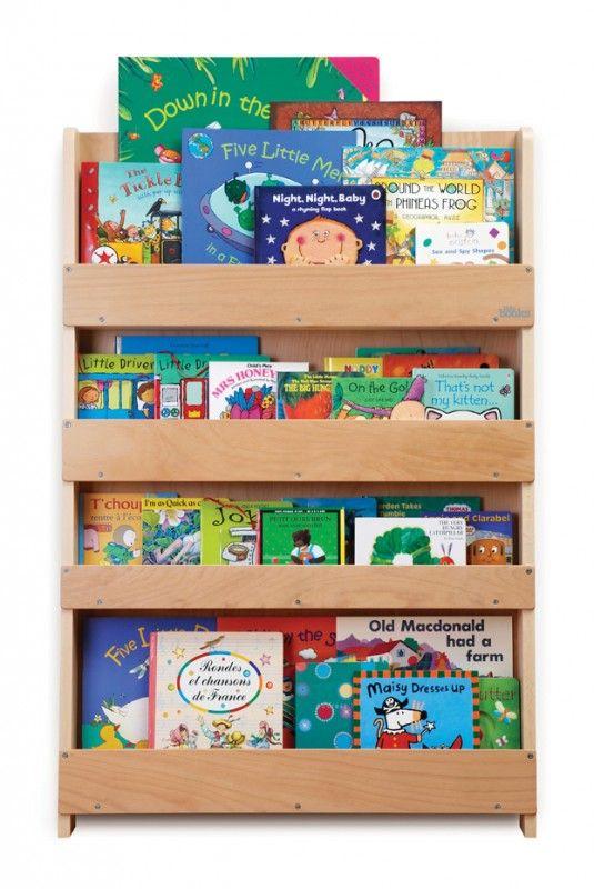 Aufbewahrung Im Kinderzimmer | Ausgezeichnetes Kinder Bücherregal Für Ca.  80 Bücher, Natur, Aus Holz, Von Tidy Books