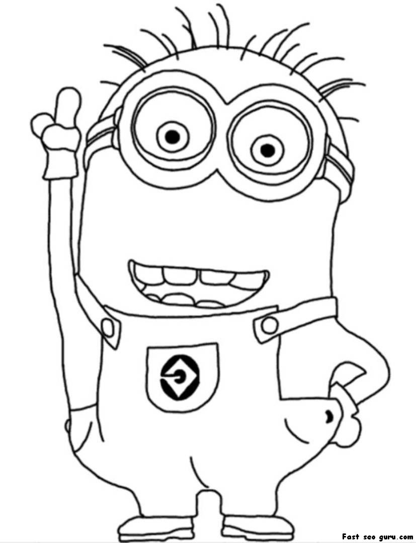 cute despicable me minion coloring pages - Despicable Coloring Pages Dave
