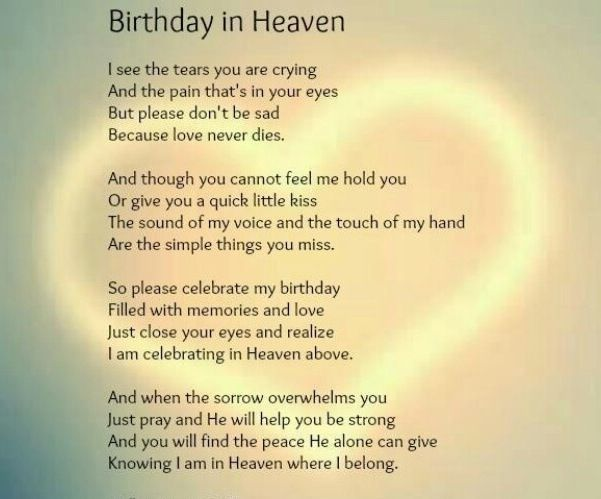 Happy Birthday Message Simple ~ Birthday in heaven free ecards pinterest heavens grief and