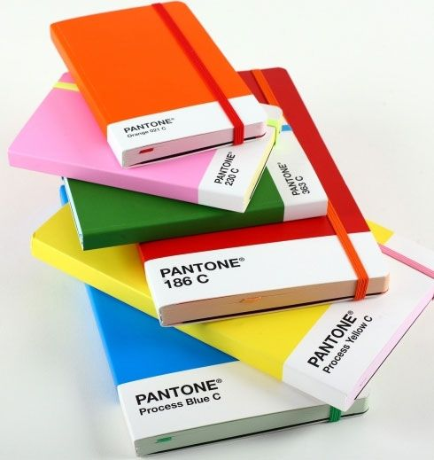 idea: paint each art journal a different color on the pantone color spectrum, going in order
