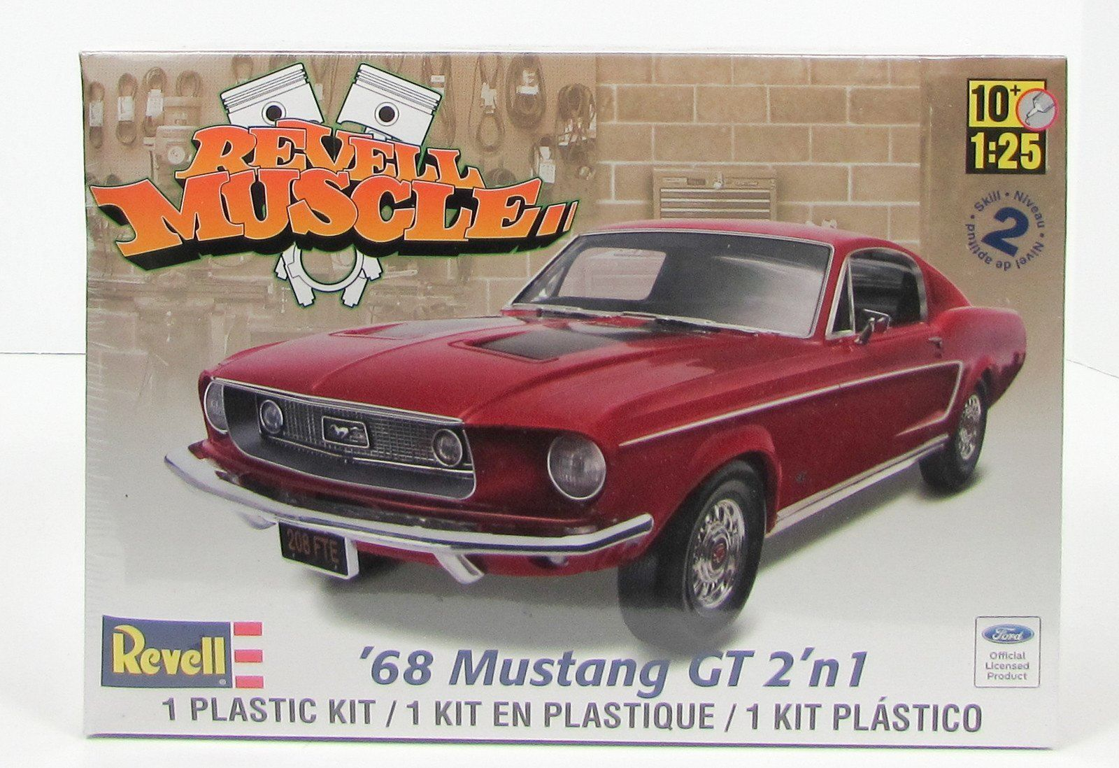 Home gt products catalog gt office partition gt room iders glass wall - 1968 Ford Mustang Gt Revell Muscle 85 4215 1 25 New Car Model Kit