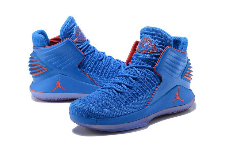 the latest 8ca21 55262 Official Mens Air Jordan 32 XXXII MVP Why Not Royal Blue Red Basketball  Shoes