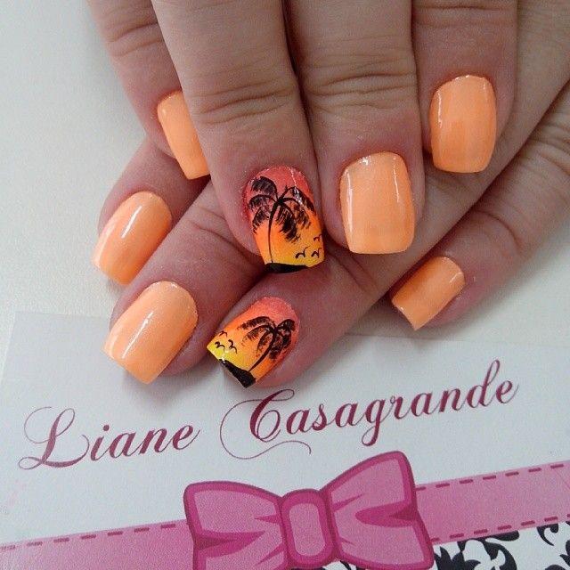 Nail Art Ideas For Beach Vacation: Instagram Photo By @lianecds (Liane Casagrande
