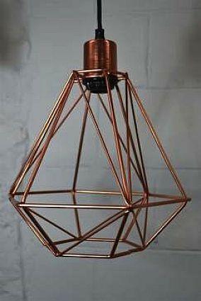 Copper Geometric Lamp Lampe Cuivre Geometrique