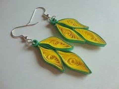 Paper Earrings Quilling Paper Earrings Making Easy Way Handicrafts