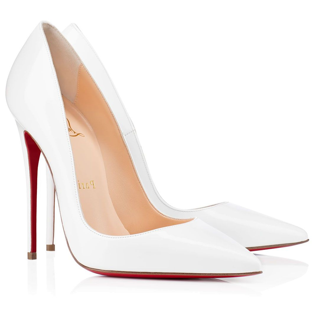 68e39cbe9c192e christian louboutin white pumps
