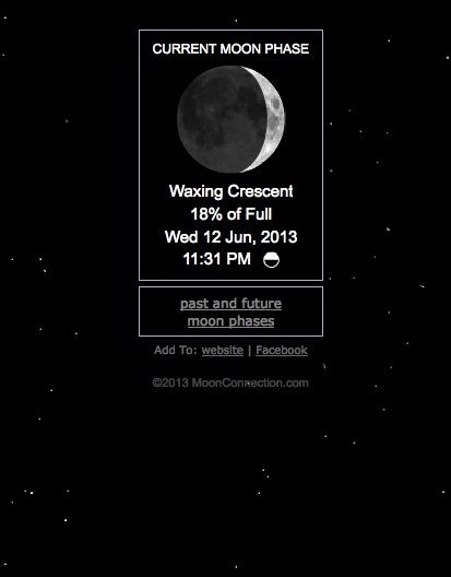 Current Moon Phase Http Www Moonconnection Com