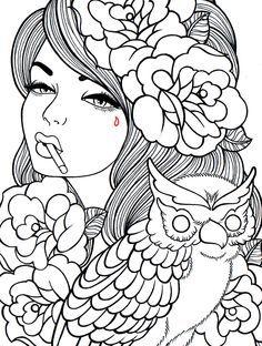 Hippie dover designs for coloring - Pesquisa do Google | Coloring ...