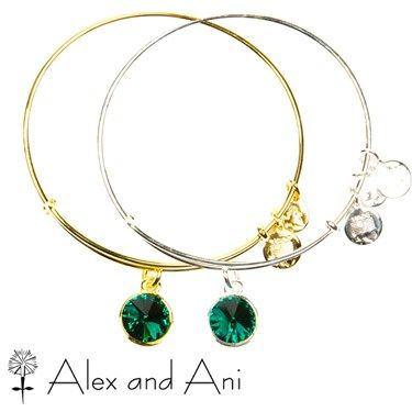 Alex And Ani Emerald May Birthstone Bangles