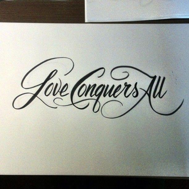 love conquers tattoo all Anchor