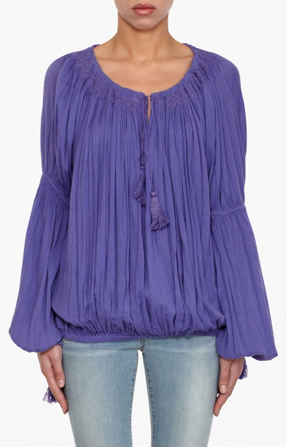 Purple Billy Blouse by Mes Desmoiselles