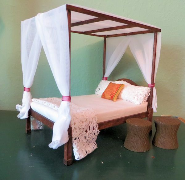 Gorgeous Handmade Bed and Resin Tables by FatCatDesignsMinis, $49.99