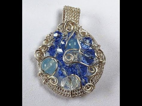 The blue moon pendant tutorial youtube wire wrapping the blue moon pendant tutorial youtube aloadofball Images
