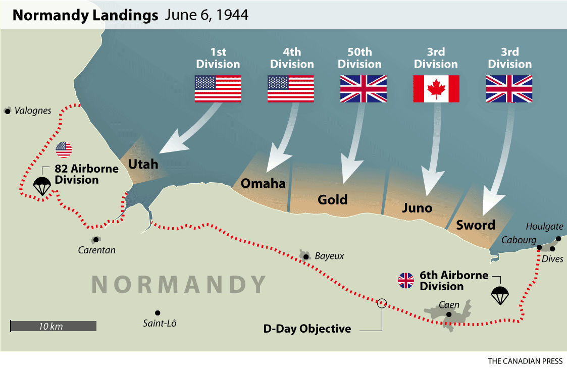Normandy Beach Map