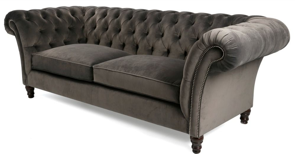 ... Intended Fabric Chesterfield Sofa
