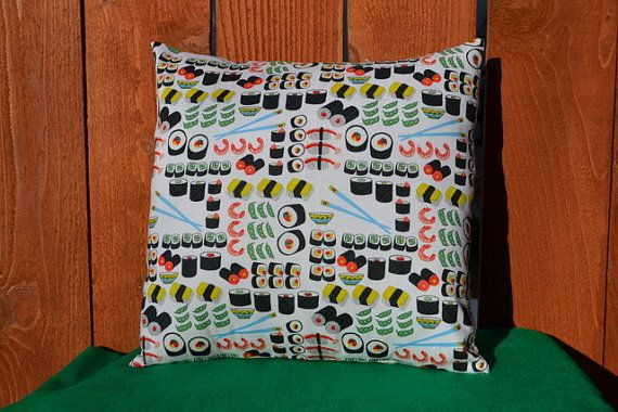 14 Sushi And Rice Pillow Cover Case Yummy Japanese Asian