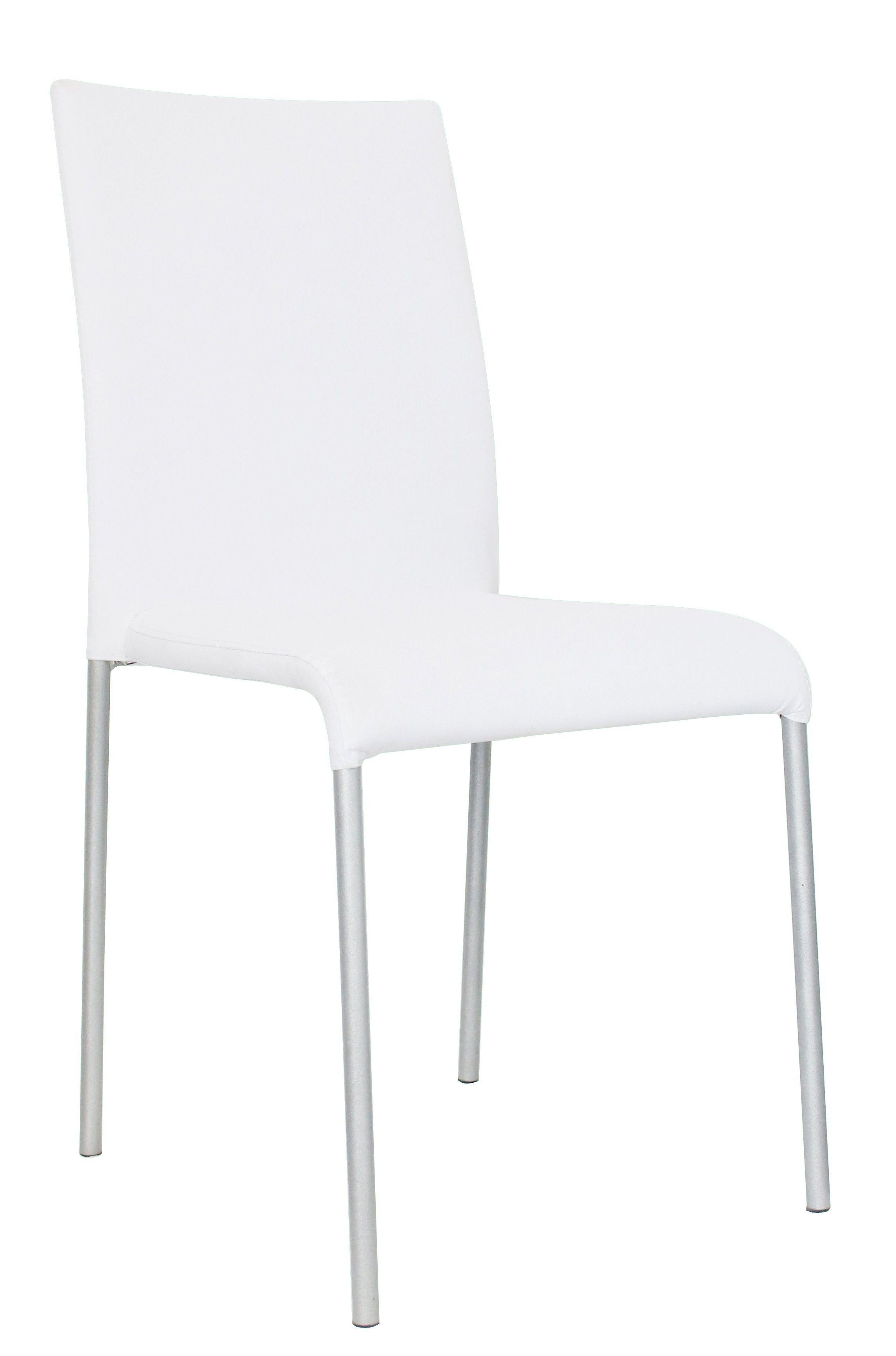 superbe les chaises en simili cuir coloris blanc confortable solide et lavable parfait dans une salle manger ou une cuisine la structure de la chaise - Chaise Cuir Blanc