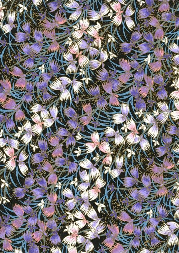 Japanese Yuzen Chiyogami Washi Paper (Floral Design 09)    A top quality A4 sheet of beautiful Chiyogami Paper, ideal for invitations and