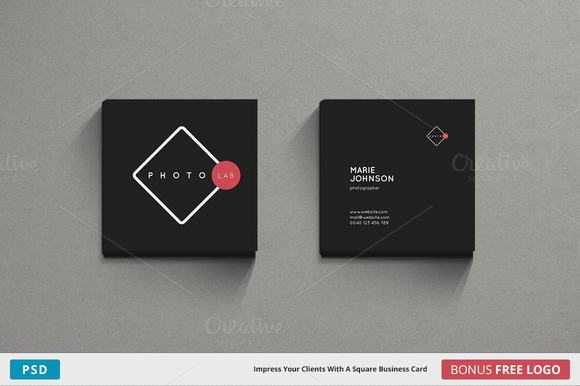 Photolab Business Card Square Business Cards Layout Square Business Card Free Business Card Templates