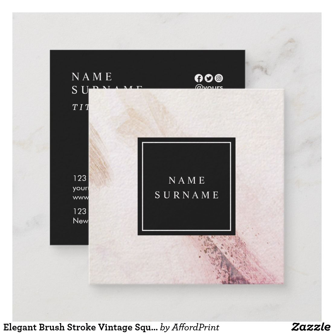 Square Business Cards Print Square Cards From Jukebox Mini Business Card Square Business Cards Business Cards Creative