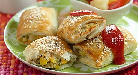 Kids love these tiny tasty sausage rolls. Make them in advance and chill.