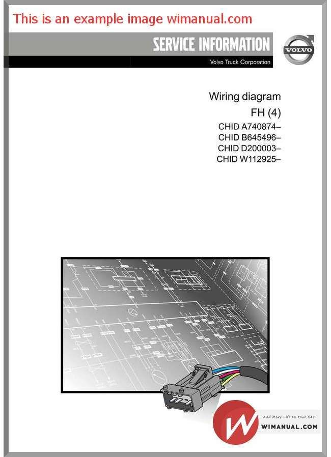 Volvo Fm7 9 10 12 Fh12 16 Nh12 Wiring Diagrams 50 00 Manual Parts Catalog Volvo