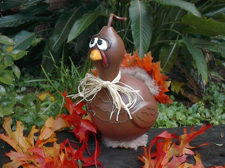 Gourd art thanksgiving turkey fall home centerpiece