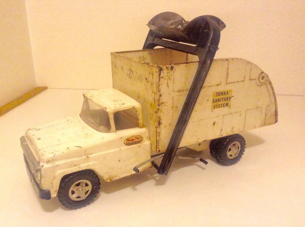 Vintage 1960 Tonka Sanitary System Truck Original Pressed Steel NR