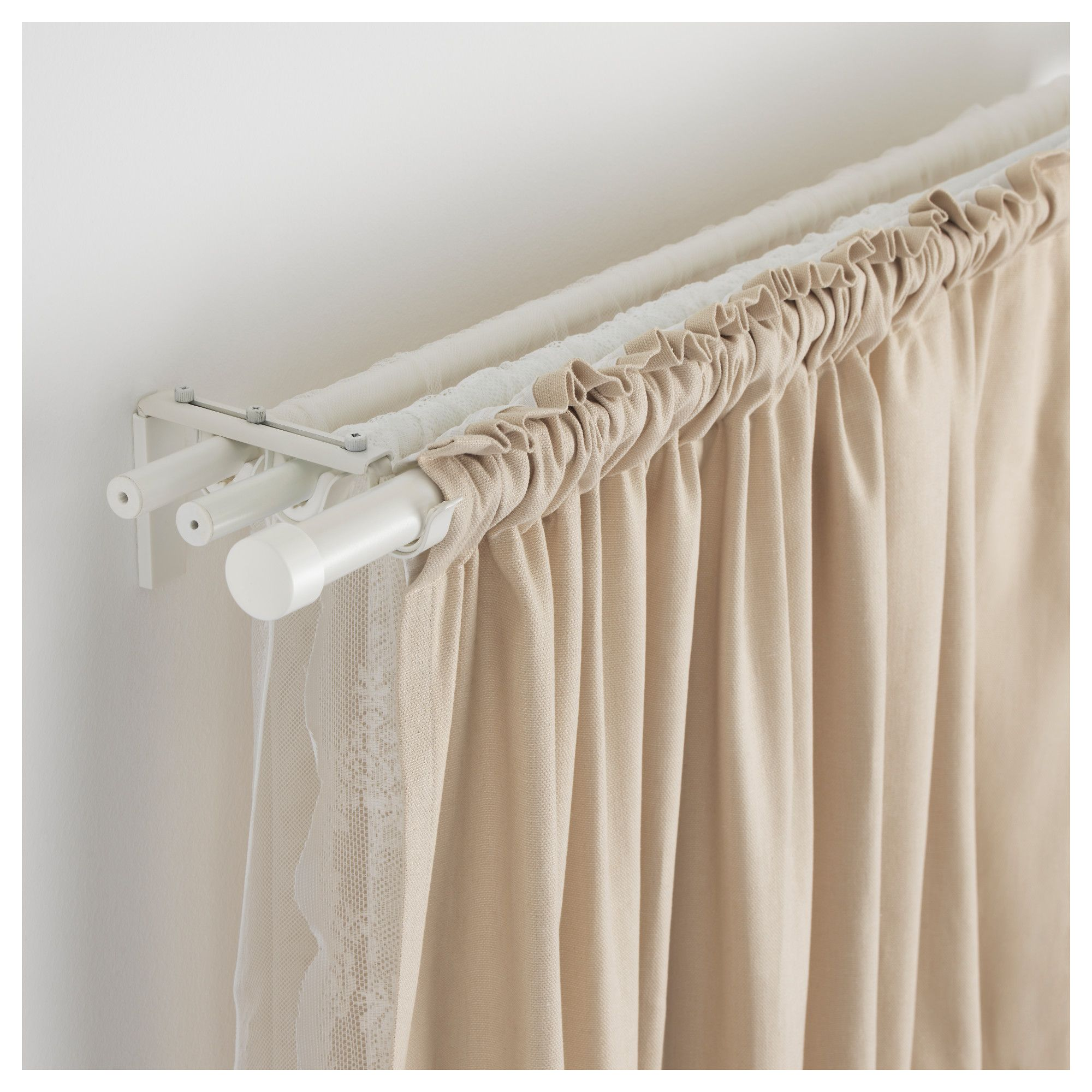 r cka curtain rod white products pinterest rideaux tringle rideau et tringle. Black Bedroom Furniture Sets. Home Design Ideas