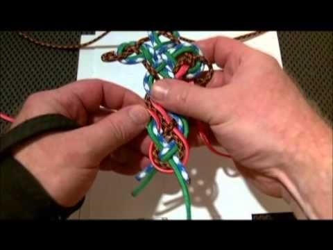 how to make a paracord macrame cross bracelet