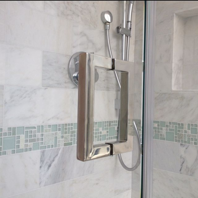 Square Back To Back Frameless Shower Door Handle