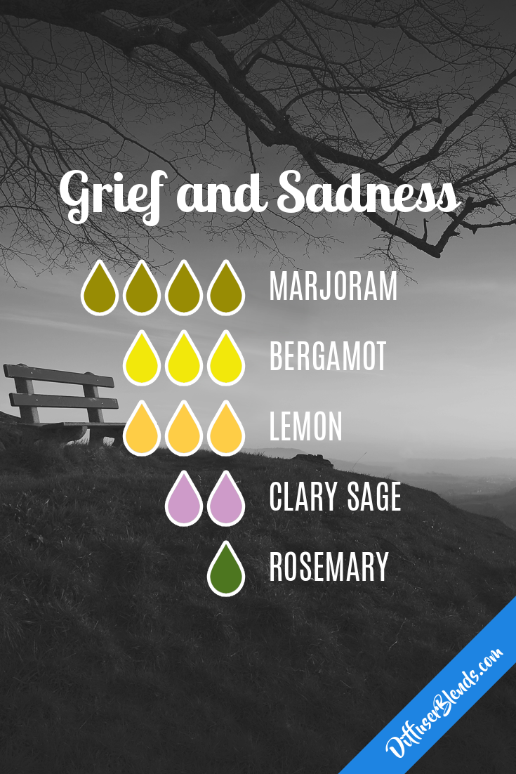 Essential oil diffuser blend for use when navigating grief. #doterra #essentialoils #grief #loss