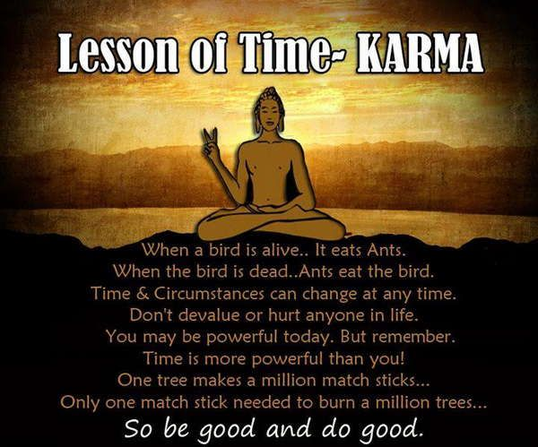 lessons of time karma quotes and sayings