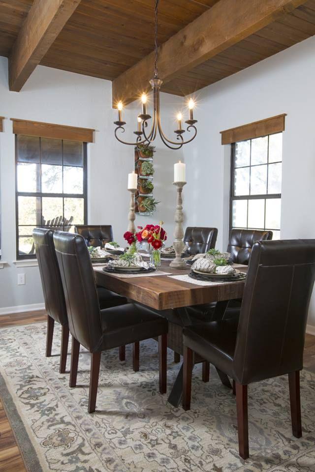 HGTV Fixer Upper - Dining Room - LOVE That Ceiling