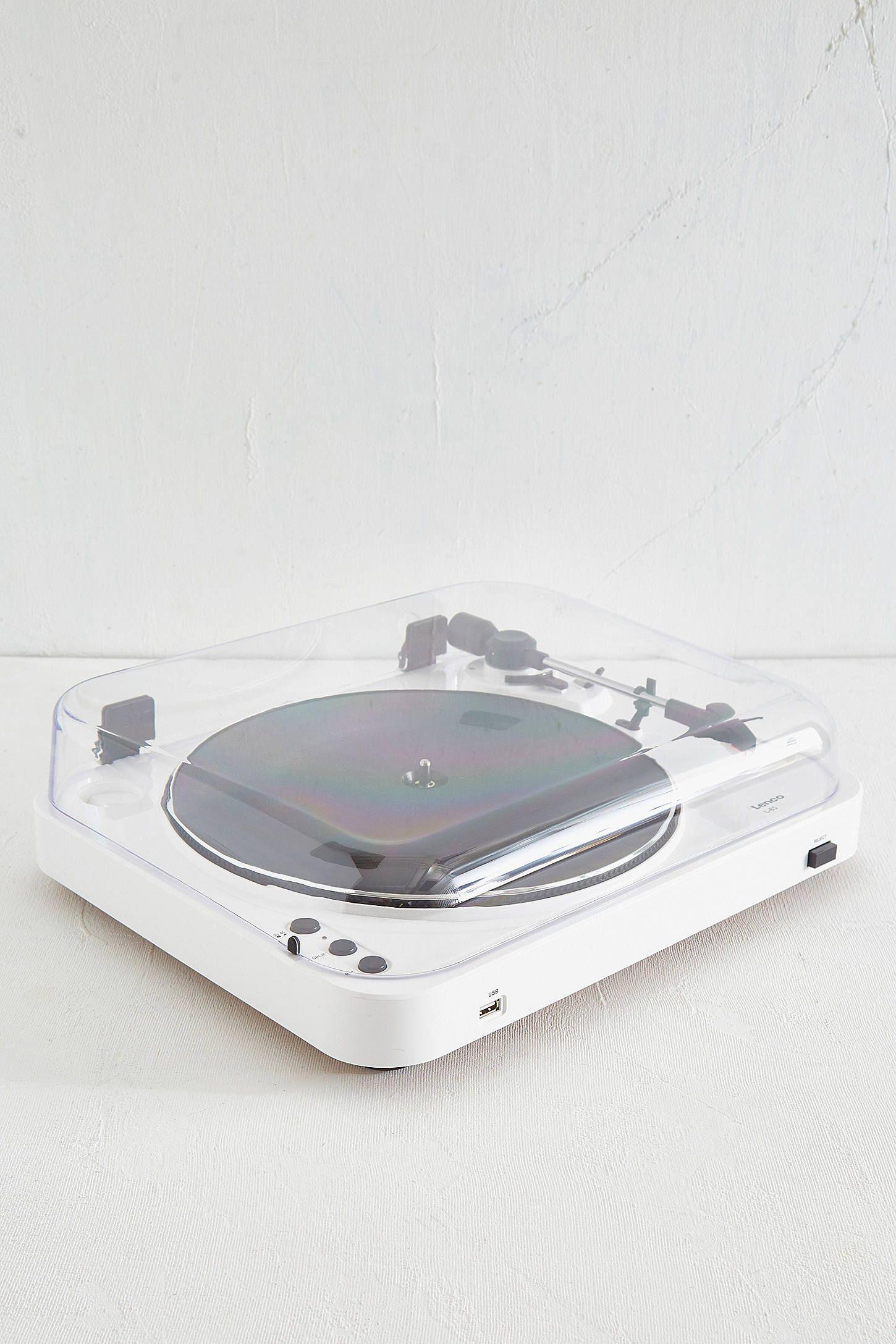 lenco l 85 white vinyl record player vinyl record player and white
