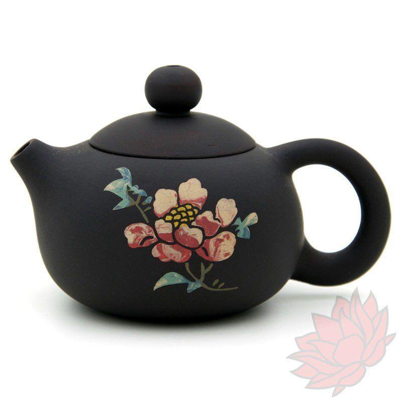 Jianshui Zitao Clay Teapot Xishi Style With Flowers - 80ml :: FREE SHIPPING